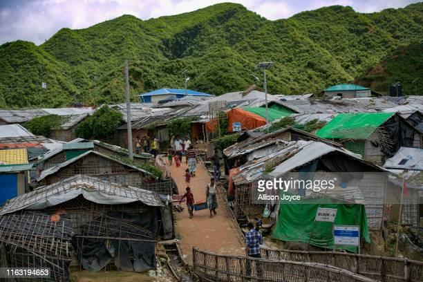 Nayapara camp is seen on August 22, 2019 in Cox's Bazar, Bangladesh. A fresh push to repatriate Rohingya refugees to Myanmar appeared August 22 to...
