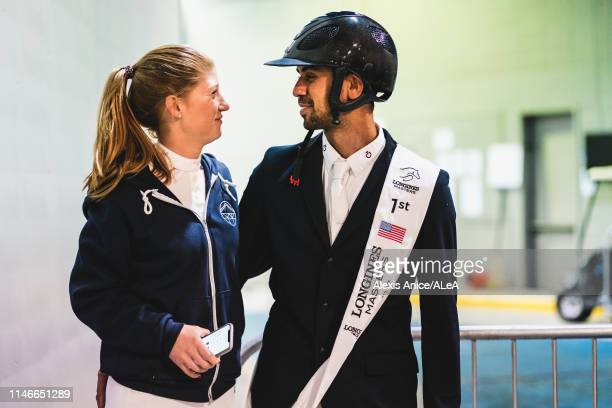 Nayel and his girlfriend GATES Jennifer after the Longines Grand Prix de New York at the Longines Masters New York 2019 at NYCB Live home of the...