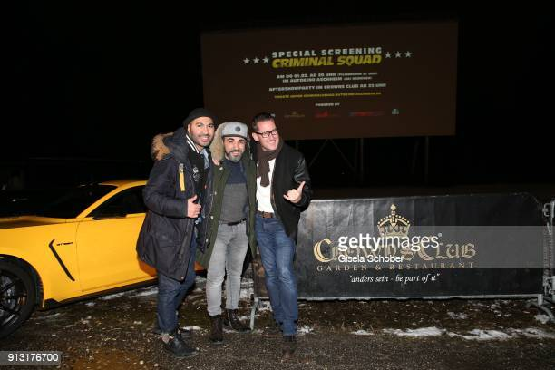 Nayel BenHalima Managing Director Crowns Club Adnan Maral and Holger Fuchs Managing Director Concorde Film during the special screening of 'Criminal...