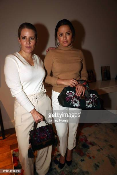 Nayeli Chavez-Geller and Jazmin Carrillo attends the Marias By Alida Boer Cocktail Reception on January 22, 2020 in New York City.