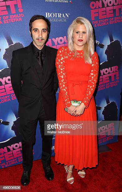 Nayib Estefan and Lara Coppola attend the Broadway Opening Night Performance of 'On Your Feet' at the Marquis Theatre on November 52015 in New York...