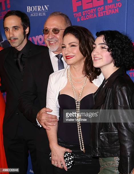 Nayib Estefan Emilio Estefan Gloria Estefan and Emily Estefan attend the Broadway Opening Night Performance of 'On Your Feet' at the Marquis Theatre...