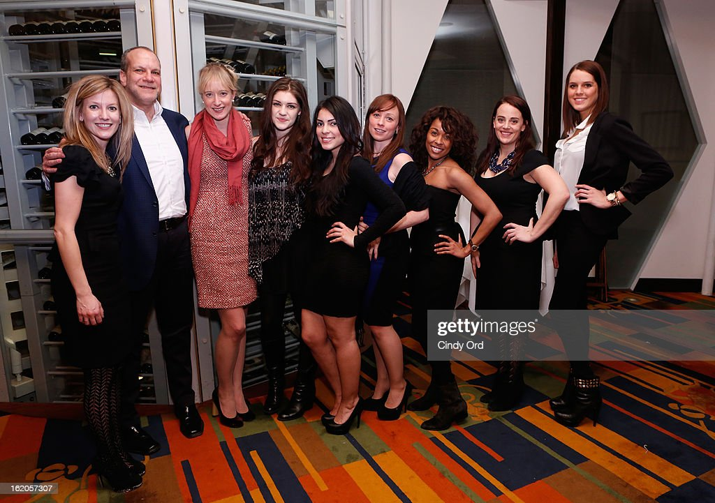 Naysa Mishler, Norman Miller, Emily McLintock, Emily Kaczmarek, Jasmine Ruiz, Mimi Doherty, Kristine Sanabria, Danielle Puccio and Caitlin Dennison attend the Gotham Magazine & Moroccanoil Celebrate With Step Up Women's Network event on February 18, 2013 in New York City.