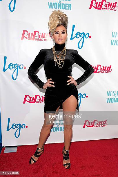 Naysha Lopez attends Logo's RuPaul's Drag Race Season 8 Premiere at Stage 48 on February 22 2016 in New York City