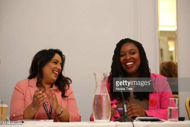 Naz Shah Labour MP for Bradford West shadow Women and Equalites minister with Dawn Butler Labour MP for Brent Central shadow women and equalities...
