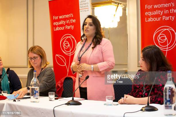 Naz Shah Labour MP for Bradford West shadow Women and Equalities minister speaking Abuse of Women in public life Fringe event at the 2019 Labour...