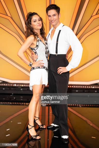 "Nazan Eckes and Christian Polanc are seen during the 8th show of the 12th season of the television competition ""Let's Dance"" on May 17, 2019 in..."