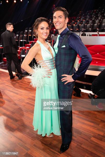 "Nazan Eckes and Christian Polanc during the 2nd show of the 12th season of the television competition ""Let's Dance"" on March 29, 2019 in Cologne,..."