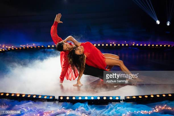 "Nazan Eckes and Christian Polanc perform on stage during the 8th show of the 12th season of the television competition ""Let's Dance"" on May 17, 2019..."
