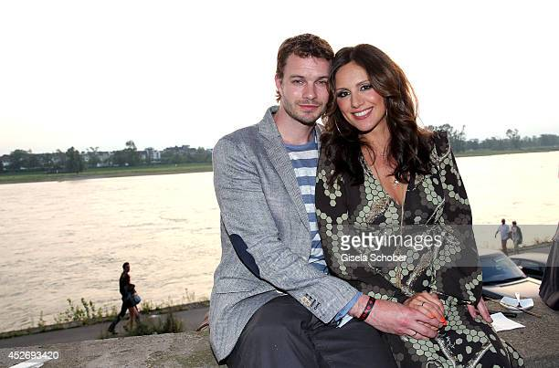 Nazan Eckes and her husband Julian Khol attend the New Faces Award Fashion 2014 on July 25 2014 in Duesseldorf Germany