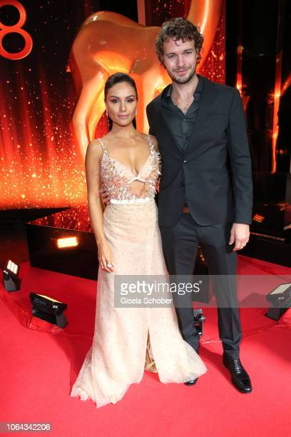 Nazan Eckes and her husband Julian Khol during the Bambi Awards 2018 Arrivals at Stage Theater on November 16, 2018 in Berlin, Germany.