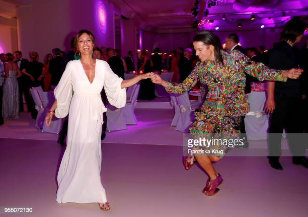 Nazan Eckes and Jorge Gonzalez during the Rosenball charity event at Hotel Intercontinental on May 5 2018 in Berlin Germany