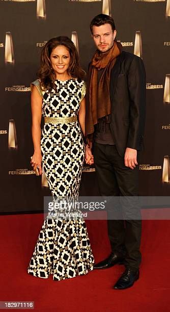 Nazan Eckes and Julian Khol arrive at the red carpet of the 'Deutscher Fernsehpreis 2013' at Coloneum on October 2 2013 in Cologne Germany