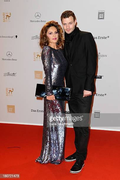 Nazan Eckes and Julian Khol attend the Red Carpet for the Bambi Award 2011 ceremony at the RheinMainHallen on November 10 2011 in Wiesbaden Germany