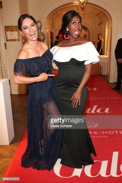 Nazan Eckes and Motsi Mabuse pregnant during the Gala Spa Awards at Brenners ParkHotel Spa on April 14 2018 in BadenBaden Germany