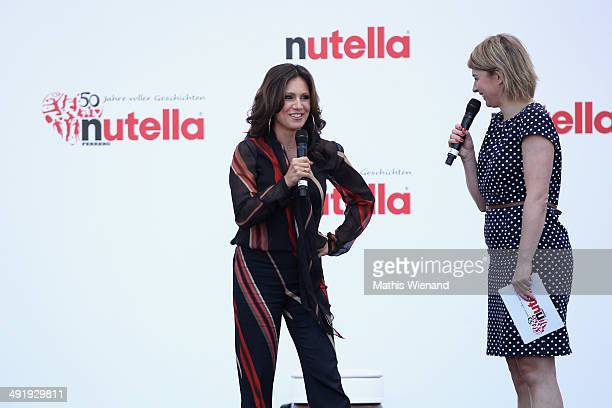 Nazan Eckes and Sabine Heinrich attend the 50 Year Anniversary Nutella Celebration at Westfalenpark on May 18 2014 in Dortmund Germany