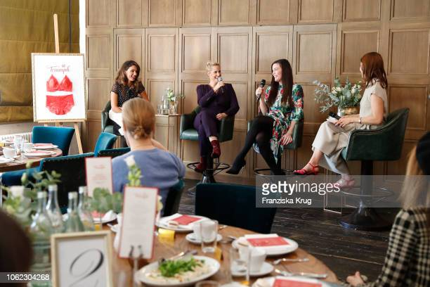 Nazan Eckes Anika Decker Liv Tyler and Vera Hulbert during the Triumph event at Soho House on November 16 2018 in Berlin Germany