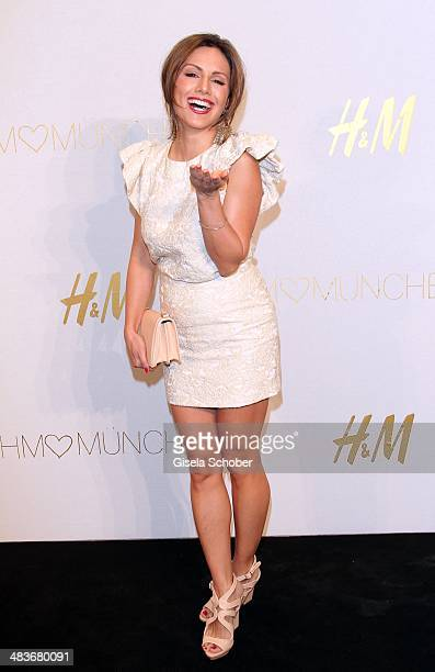 Nazan Eckes attends the HM store opening on April 9 2014 in Munich Germany