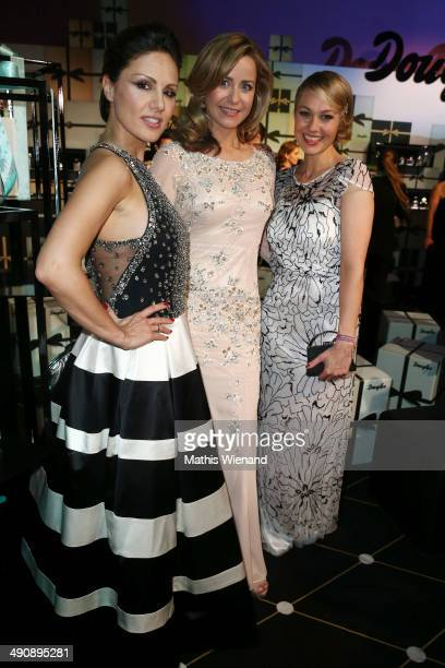Nazan Eckes Bettina Cramer and Ruth Moschner attend Douglas at Duftstars Awards 2014 the Duftstars Awards 2014 at arena Berlin on May 15 2014 in...