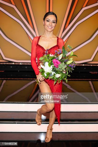 "Nazan Eckes is seen during the 11th show of the 12th season of the television competition ""Let's Dance"" on June 07, 2019 in Cologne, Germany."