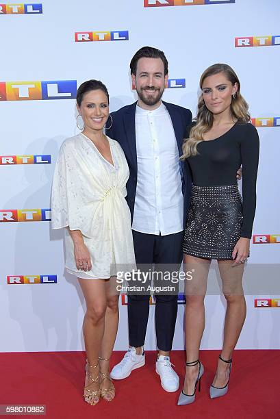 Nazan Eckes, Jan Koeppen and Sophia Thomalla attend photocall of RTL Program 2016/17 presentation at the REE Location on August 30, 2016 in Hamburg,...