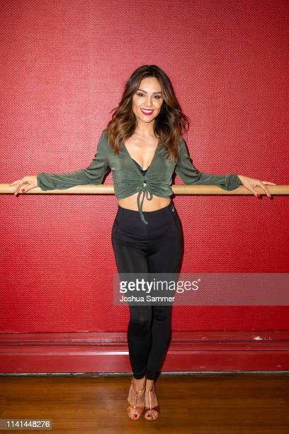 Nazan Eckes poses at a photo call for the television competition 'Let's Dance' before their training session on April 09, 2019 in Cologne, Germany.