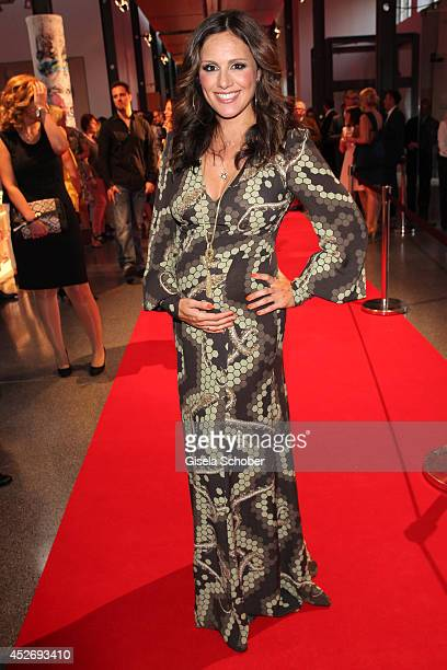 Nazan Eckes pregnant attends the New Faces Award Fashion 2014 on July 25 2014 in Duesseldorf Germany