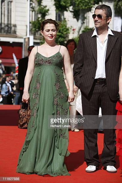 Nazan Kesal and director Nuri Bilge Ceylan during 2006 Cannes Film Festival Iklimler Premiere at Palais des Festival in Cannes France