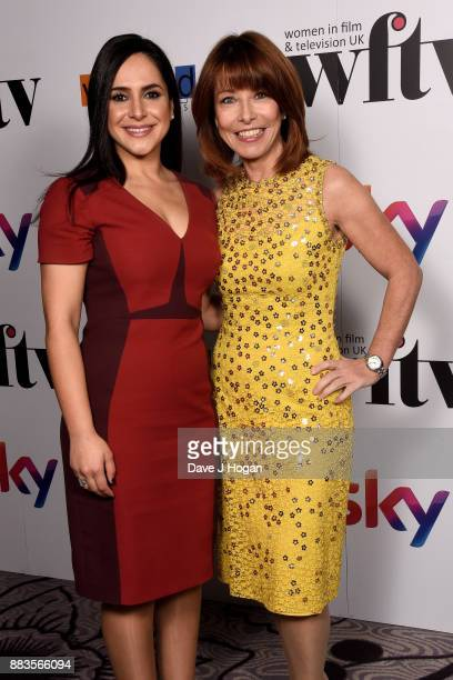 Nazaneen Ghaffar and Kay Burley attend the 'Sky Women In Film and TV Awards' held at London Hilton on December 1 2017 in London England
