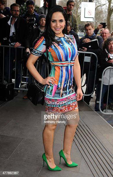 Nazaneen Ghaffar attends the 2014 TRIC Awards at The Grosvenor House Hotel on March 11 2014 in London England