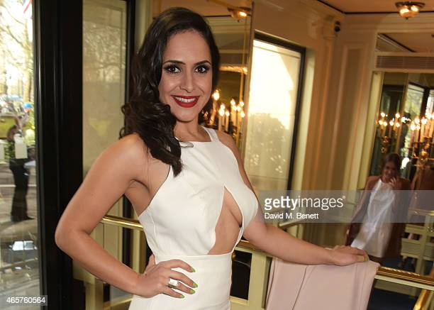Nazaneen Ghaffar attends the TRIC Television and Radio Industries Club Awards at The Grosvenor House Hotel on March 10 2015 in London England
