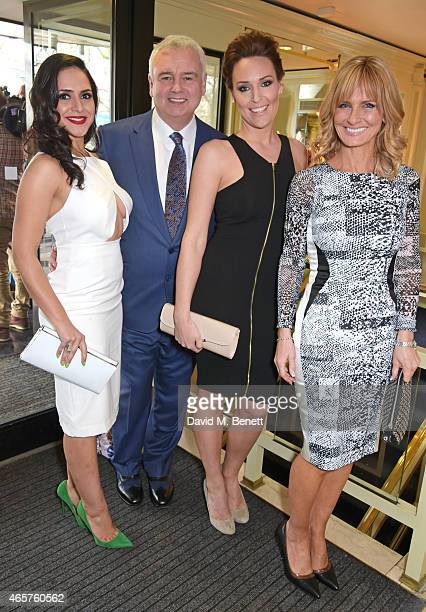 Nazaneen Ghaffar Eamonn Holmes Isabel Webster and Jacquie Beltrao attend the TRIC Television and Radio Industries Club Awards at The Grosvenor House...
