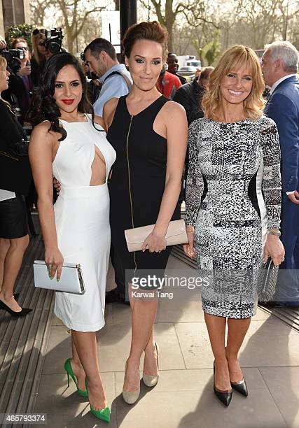 Nazaneen Ghaffar Isabel Webster and Jacquie Beltrao attend the TRIC Awards at Grosvenor House Hotel on March 10 2015 in London England