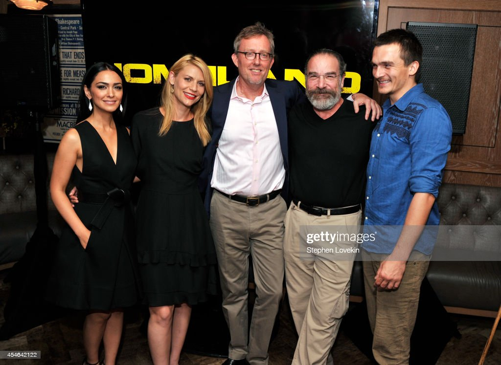 Nazanin Boniadi, Claire Danes, Alex Gansa, Mandy Patinkin and Rupert Friend attend a Private Reception And Screening Of Homeland Season 4 on September 4, 2014 in New York City.
