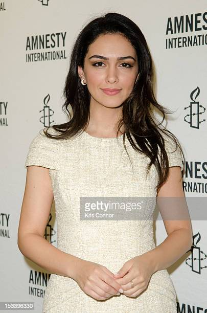 Nazanin Boniadi poses for a photo during The XX Factor Town Hall on Women's Rights conference at Council on Foreign Relations on October 4 2012 in...