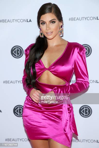Nazanin Kavari attends Beautycon Los Angeles 2019 Pink Carpet at Los Angeles Convention Center on August 10 2019 in Los Angeles California