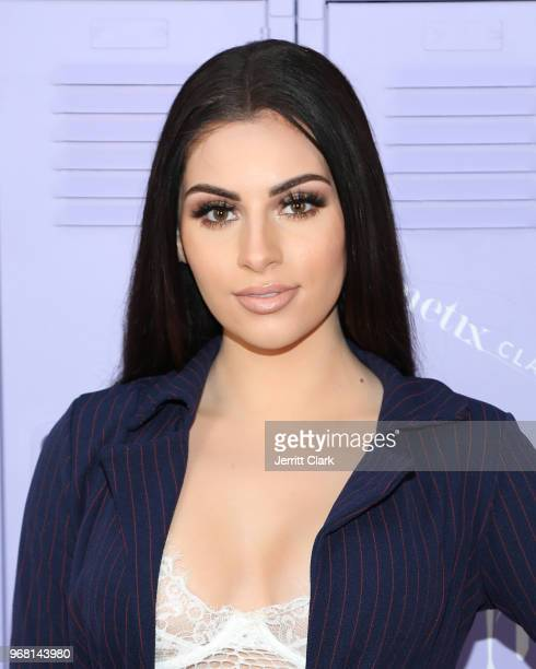 Nazanin Kavari attends Justine Skye's launch event for her new beauty platform Metix at Hotel Bel Air on June 5 2018 in Los Angeles California