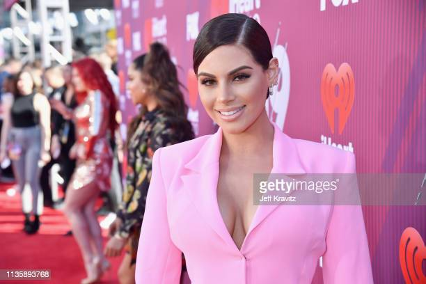 Nazanin Kavari attends the 2019 iHeartRadio Music Awards which broadcasted live on FOX at Microsoft Theater on March 14 2019 in Los Angeles California