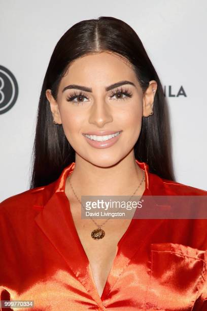 Nazanin Kavari attends the Beautycon Festival LA 2018 at the Los Angeles Convention Center on July 15 2018 in Los Angeles California