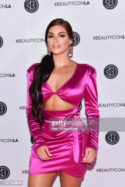 Nazanin Kavari attends the Beautycon Los Angeles 2019 Pink Carpet at Los Angeles Convention Center on August 10 2019 in Los Angeles California