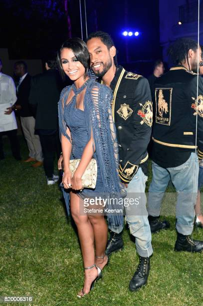 Nazanin Mandi and Miguel at BALMAIN celebrates first Los Angeles boutique opening and Beats by Dre collaboration on July 20 2017 in Beverly Hills...