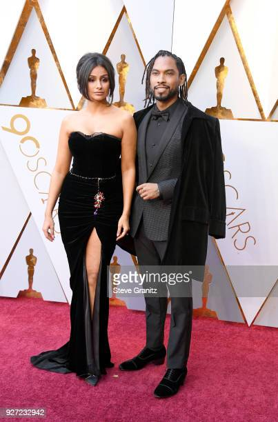 Nazanin Mandi and Miguel attend the 90th Annual Academy Awards at Hollywood Highland Center on March 4 2018 in Hollywood California