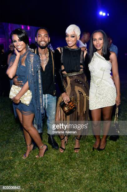 Nazanin Mandi singers Miguel Monica and actress Kerry Washington at BALMAIN celebrates first Los Angeles boutique opening and Beats by Dre...