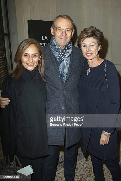 Nazanine Ravai JeanJacques Aillagon and MarieLouise de ClermontTonnerre General Manager of Chanel External Relations attend 'La Petite Veste Noire'...