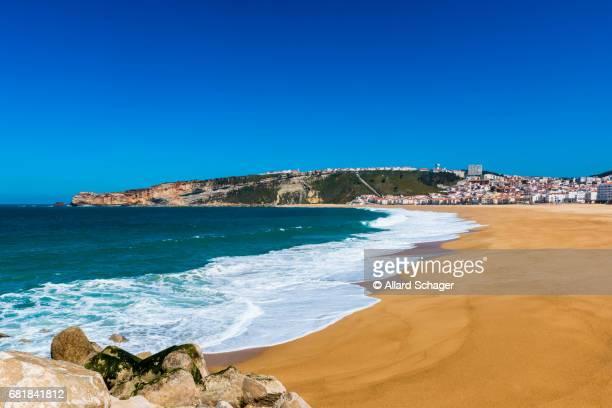 nazaré portugal - leiria district stock photos and pictures