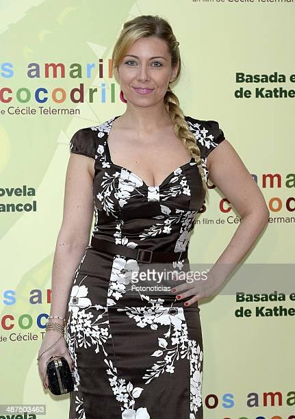 Nazaret Jimenez Aragon attends the 'Los Ojos Amarillos de los Cocodrilos' premiere the Academia del Cine on April 30 2014 in Madrid Spain