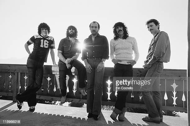 Nazareth , British hard rock band, pose for a group portait in Montreux, Switzerland, 1978.