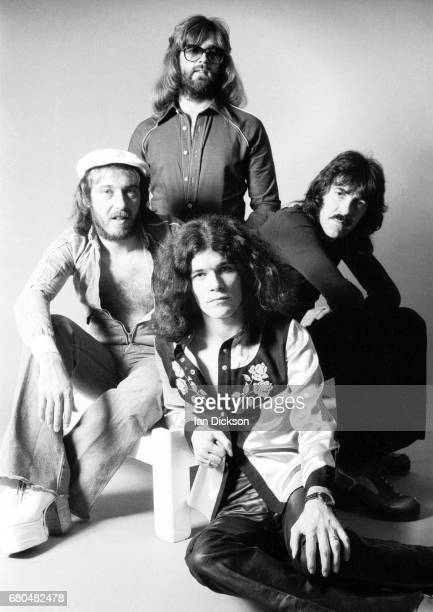 Nazareth studio group portrait Kingly Court London in 1975 Clockwise from top Darrell Sweet Manny Charlton Dan McCafferty Pete Agnew