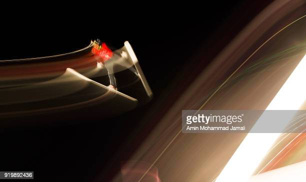 Nazarov Mikhail Of Russia makes a jump during the Ski Jumping Men's Large Hill on day nine of the PyeongChang 2018 Winter Olympic Games at Alpensia...