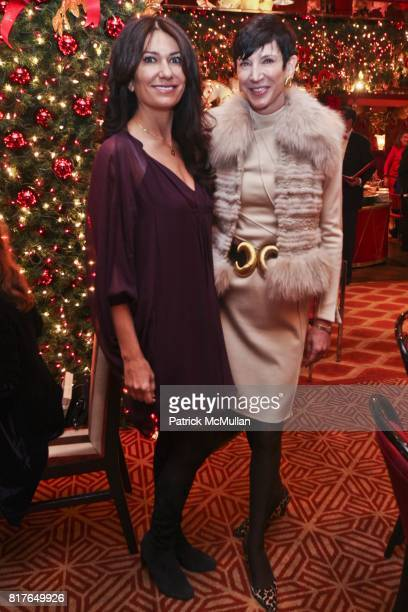 Nazee Moinian and Amy Fine Collins attend Christmas Luncheon at Doubles with Janna Bullock among hostesses at The Doubles Club on December 6 2010 in...